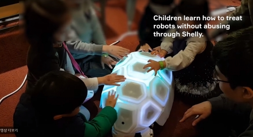 This adorable robo-tortoise teaches kids that beating up robots isn't okay