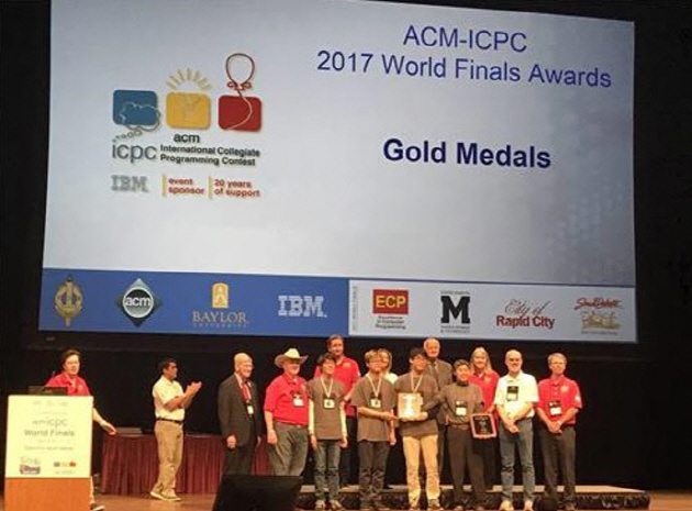 SNU students won the Gold Medals at 2017 ACM-ICPC World Finals Award