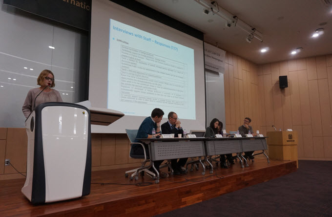 Professor Hilary Finchum-Sung and the panels