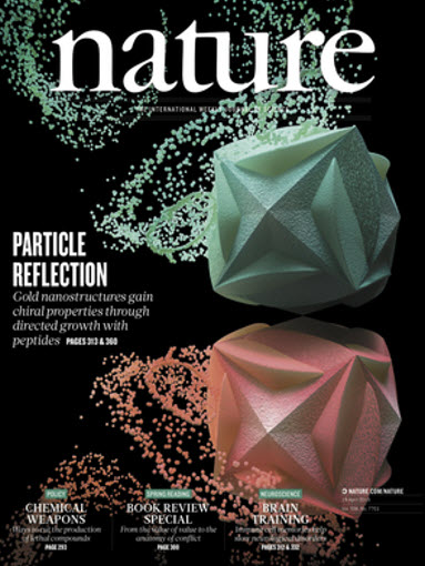 Cover image of journal Nature (April 19, 2018)