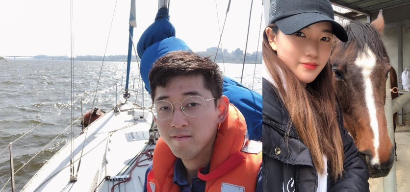 Photograph of Kim Ho Won and Huh Harim, vice-captain and former captain of SNU Sailors and Mawang respectively
