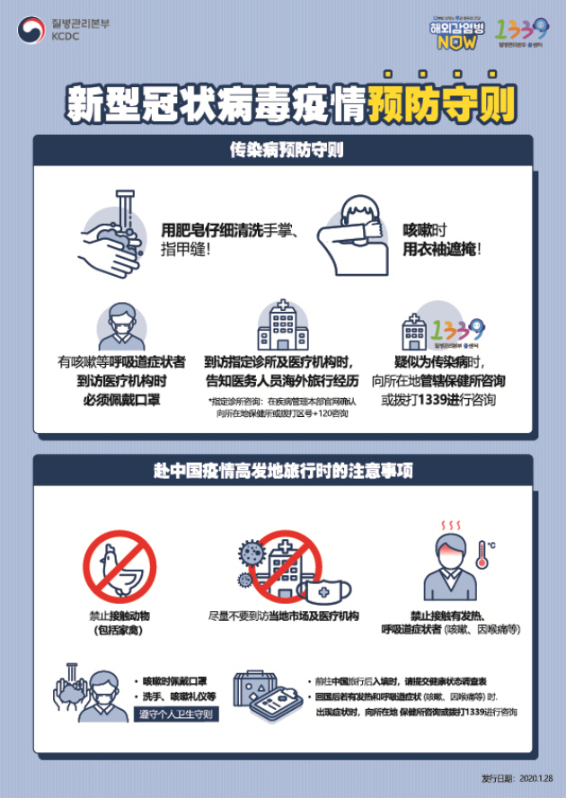 Guidance for Novel Coronavirus Infection Prevention and Control(Chinese)